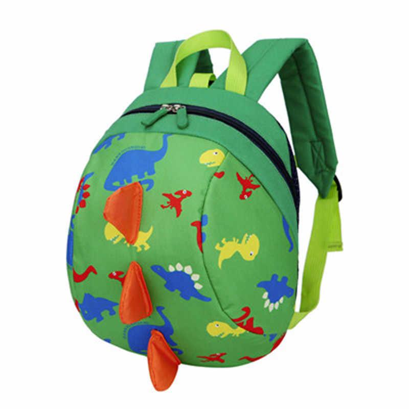 HIINST Детская мода зеленый Популярные динозавр узор плюшевые рюкзаки мальчики девочки дети рюкзак челнока CC #