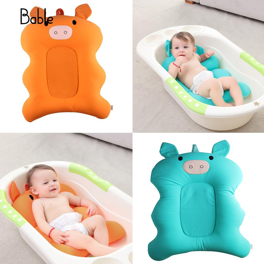 Newborn Bath Mat Pig Baby Bath Mat 2 Colorss Beds Infants Bath Mat Creative Pads ...