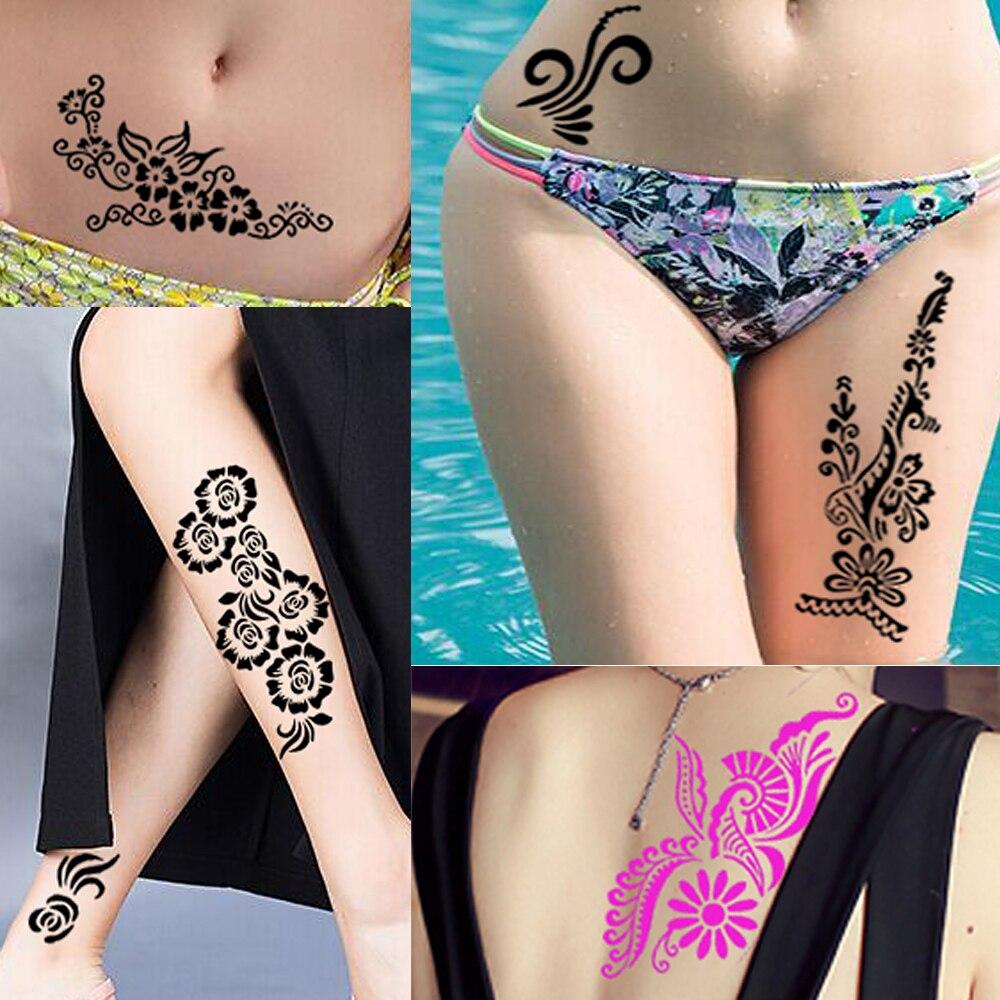 1 Stuck Indische Henna Tattoo Schablone Schonheit Rose Blumen