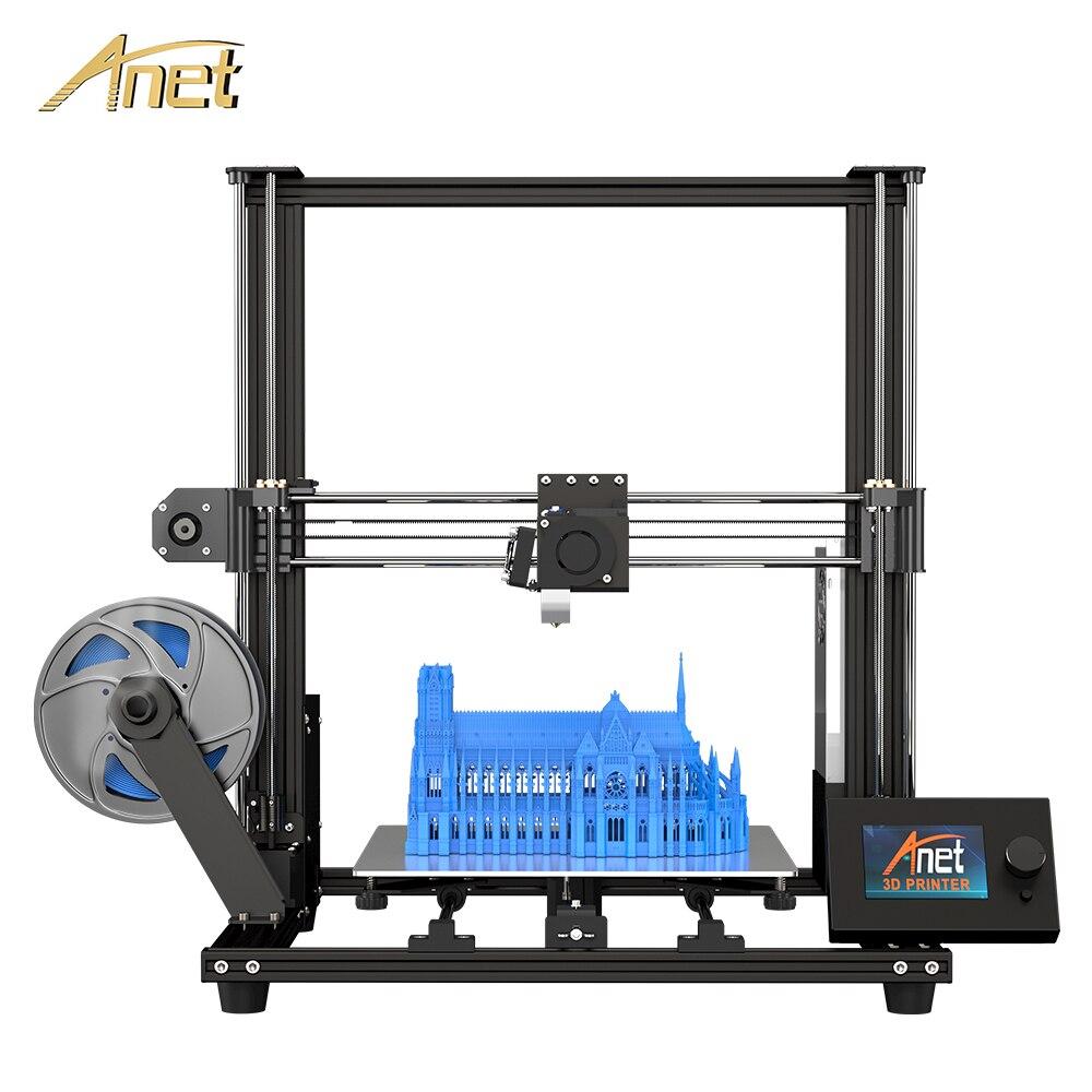 Anet A8 Плюс обновление 3d принтер комплект плюс размер 300*300*350 мм Высокоточный металлический большой 3d принтер DIY с нитью Impresora 3D