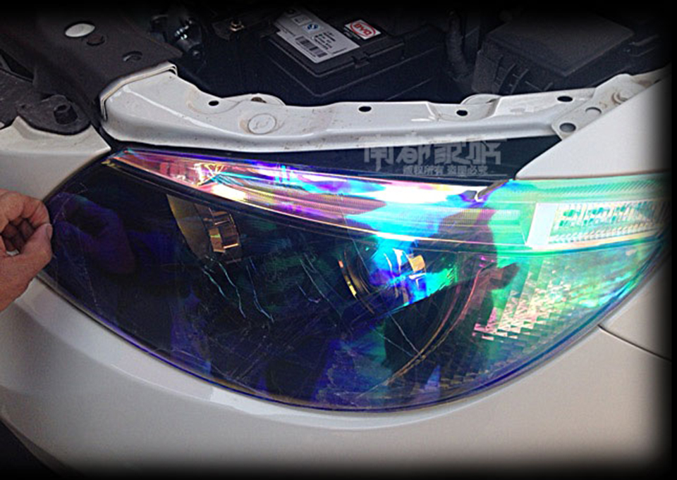 Image 5 - Clear Chameleon Car Smoke Fog Light Headlight Taillight Tint Vinyl Film Sticker-in Car Stickers from Automobiles & Motorcycles