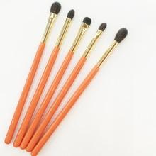 Professionelle Handgemachte Make Up Pinsel Kit Weiche Blau Eichhörnchen Ziegenhaar Lidschatten Präzise Blending Pinsel Orange Make Up Pinsel Set