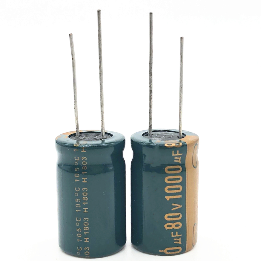 5pcs/lot 80V 1000UF 16*25mm Low ESR/Impedance High Frequency Aluminum Electrolytic Capacitor 1000uf80v 20%