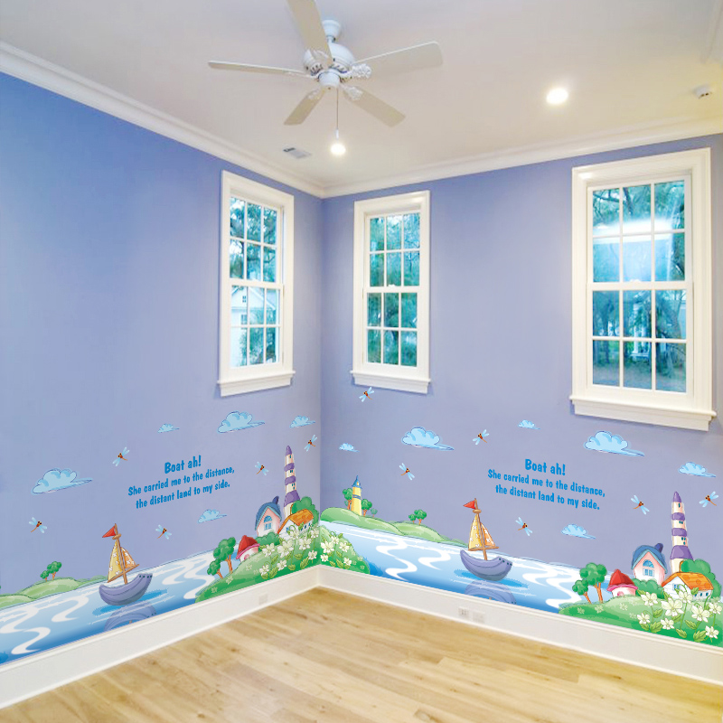Creativity DIY River Boat Wall Stickers Decoration For The House Home Kids  Child Room Decor PVC Vinyl The Sticker On The Wall In Wall Stickers From  Home ...