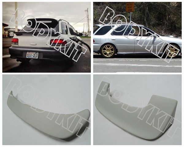 Combo 93 01 Impreza Wagon Gc8 Gf Wrx Sti Rear Wing Hatch Middle Spoiler Roof