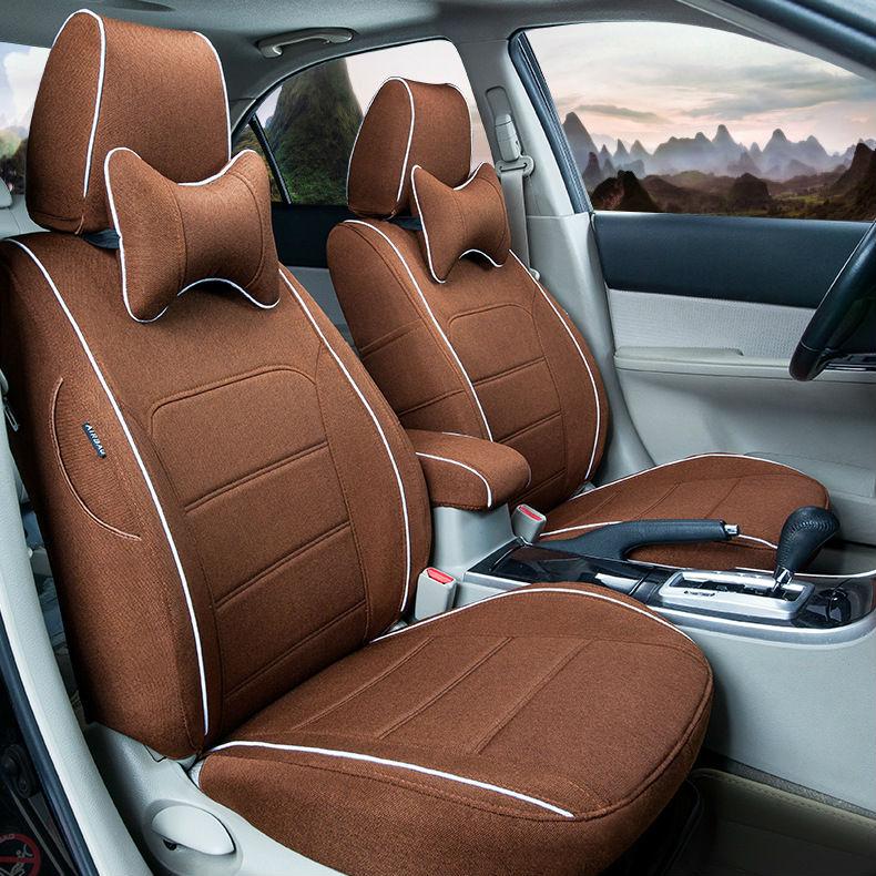 auto linen car seat covers for BLUEBIRD SUNNY Pathfinder PICKUP TEANA TIIDA Sylphy Geniss cefiro X TRAIL CIMA Nissan NP300 D22