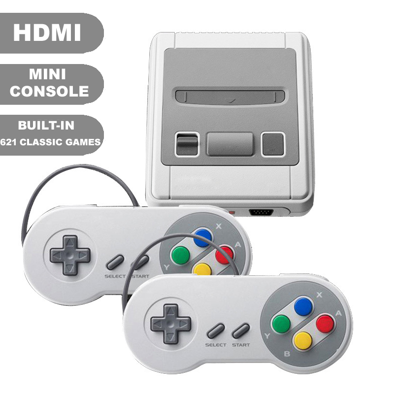 Mini HDMI Output Built-in 621 Retro Classic Games TV Game Console Double Handheld Controllers Video Game Player For NES Games nintendo gbc game video card pokemons classic collect classic colorful edition