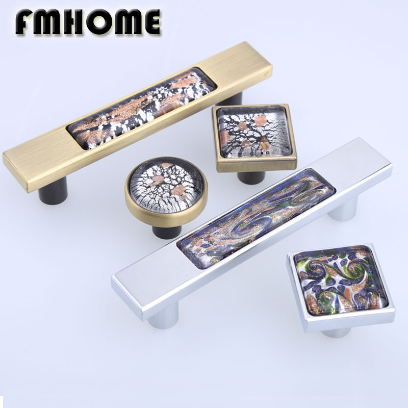 96mm modern fashion glass wine cabinet cupboard door handle bronze silver drawer tv table pull knob retro style creative handles 6 3 large glass drawer handles pulls knob chrome grey gray blue amber silver modern crystal cupboard cabinet door handle 160 mm