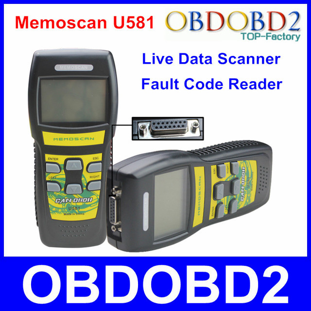 Оригинальный U581 код-ридер для разных производителей автомобилей может OBD2 OBD II данные U581 диагностический сканер переключаемый английский и метрическая единиц
