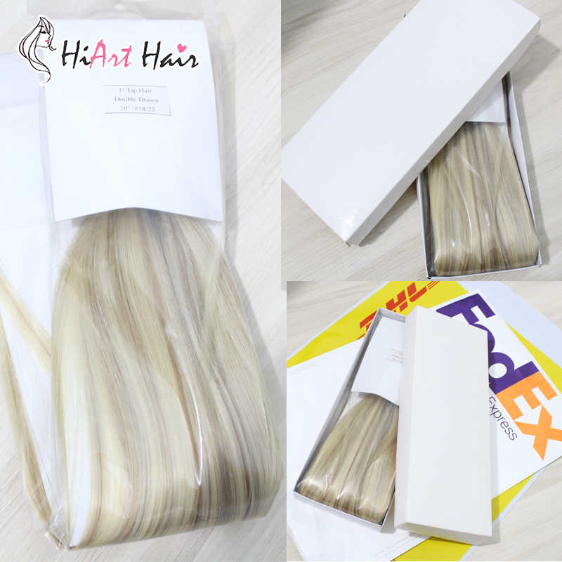 "HiArt Hair Tape Hair Extensions 100% Real Human Remy Hair #1 Salon Double Drawn Natural Hair Extension Straight  18""20""22"""