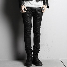 Hot Brand jeans south Korean men's clothing of cultivate one's morality byther coating elastic tight feet pants ,S-XL
