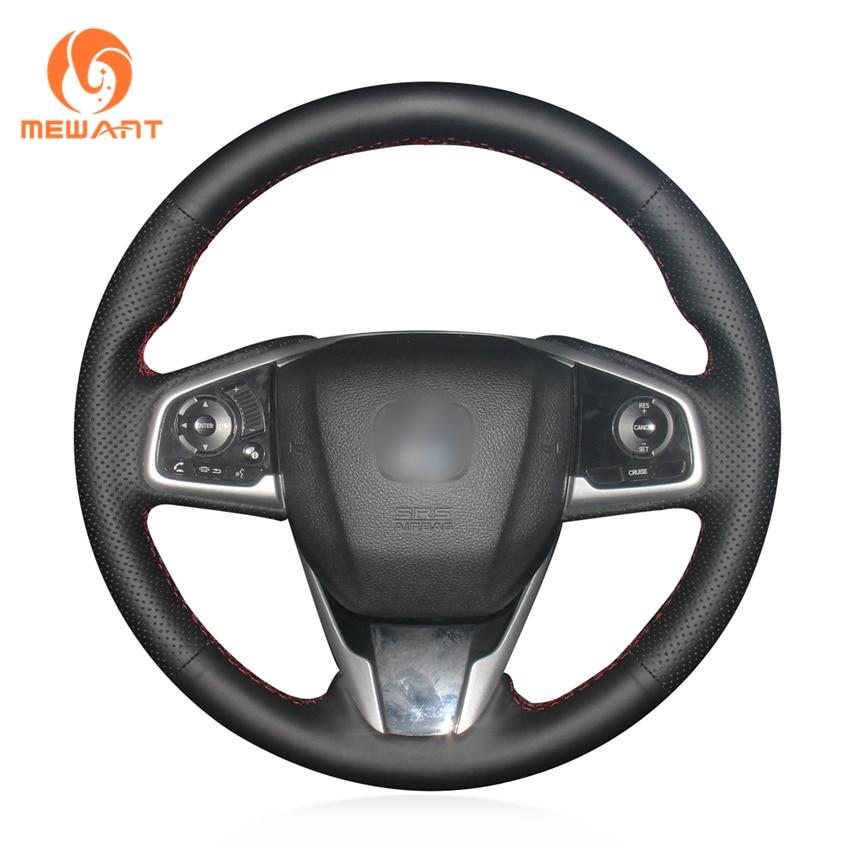 MEWANT Black Artificial Leather Car Steering Wheel Cover for Honda Civic Civic 10 2016 2019 CRV CR V 2017 2019 Clarity 2016|car steering wheel cover|steering wheel cover|wheel cover for honda - title=