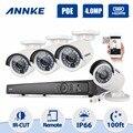 Annke 8ch sistema de cámara de seguridad poe cámara 4.0mp con 4x4.0 mp cámaras día/noche visión, motion detección, Alerta de correo electrónico (Sin DISCO DURO)