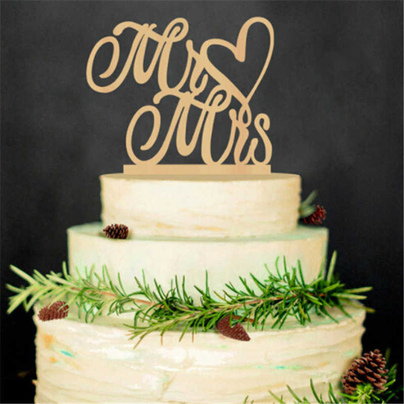 Acrylic Mr And Mrs Sign Bride Groom Happy Birthday Cake Topper For Wedding Decorations
