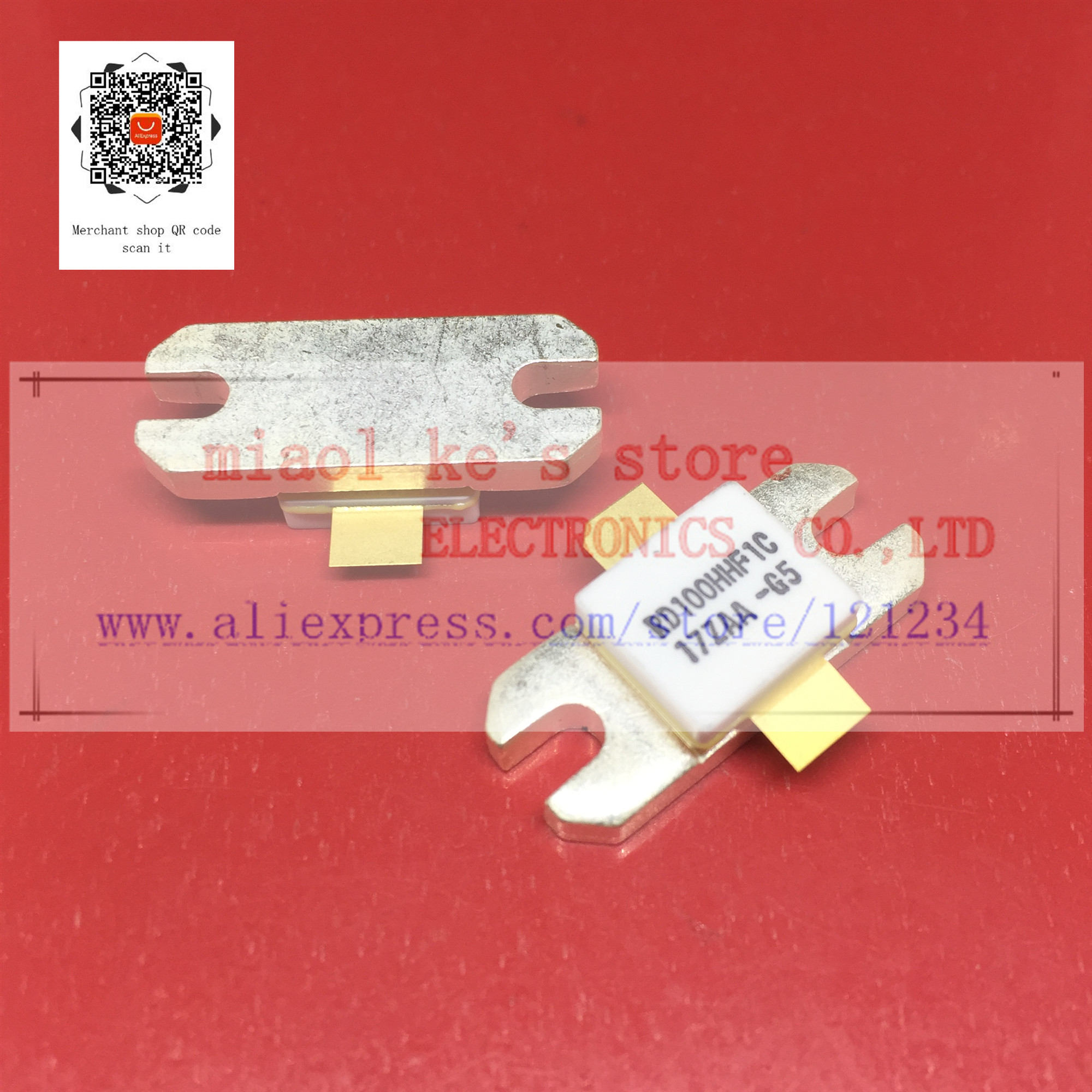 100%New Original; RD100HHF1  RD100HHF1C  RD100HHF1-101 RD100HHF1C-501 - Silicon MOSFET Power Transistor 30MHz,100W