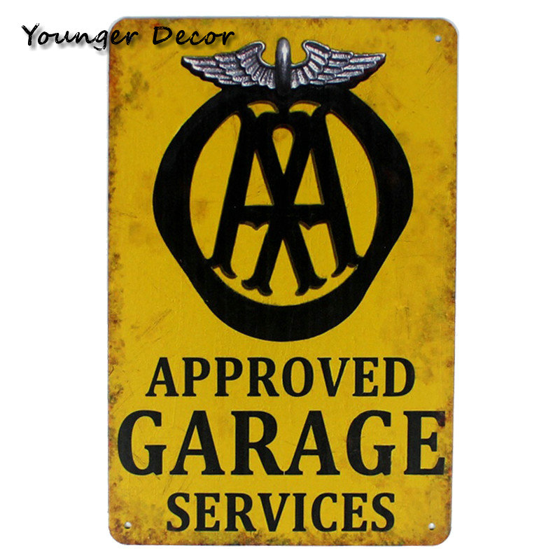 Vintage Home Wall Decor Open 24 Hours Car Service & Repair Grease ...