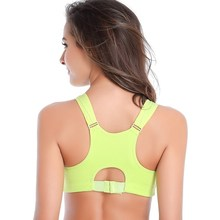 Women Push Up Sport Bra Running Gym Yoga Fitness Stretch Seamless Tops Tank Front Zipper