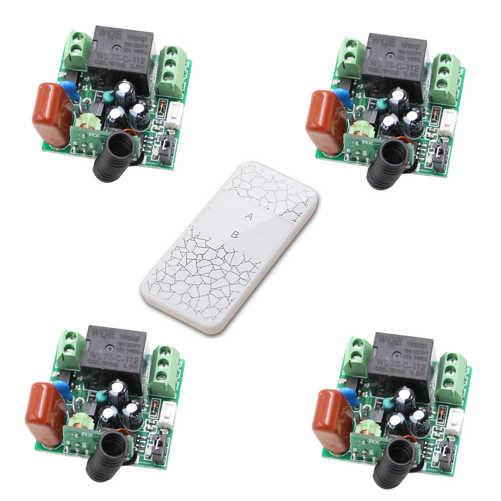AC 220V 1 Way Relay Mini Wireless Switch 315/433 Normally Open Closed RF Receiver Contact Relay Smart Home Remote Controller the proximity switch tl n15my2 normally closed ac two wire 220v 15mm