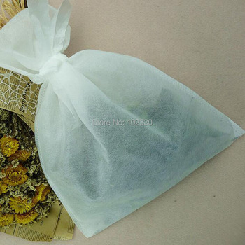 200pcs Large Size Boiled Bags 300 X400mm Non-woven Fabric Filter Bags With Tie Cloth Plant Medicine Powder Bag