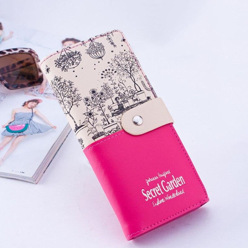 Femmes Mode Dames 12 Femelle Message Sac Bourse lot Carteras De Patchwork Longue A Portefeuille Femme Pcs D'embrayage Leave Carte ABAIEqw