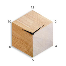 Hexagon Shaped Wooden Wall Clock