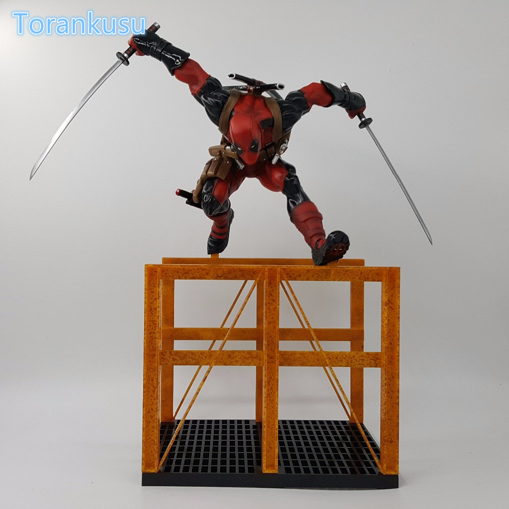 Deadpool Action Figure Deadpool Hurdling PVC Model Toy Anime Movie X Men Deadpool Wade Winston Collectible Model Doll fire toy marvel deadpool pvc action figure collectible model toy 10 27cm mvfg363
