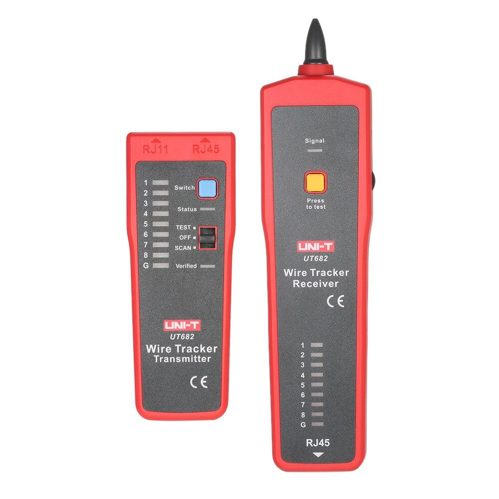 UNI-T UT682 multi-fonctionnel tenu dans la main testeur de fil Tracker récepteur RJ11 RJ45 fil ligne trouveur câble outil d'essai pour le réseau