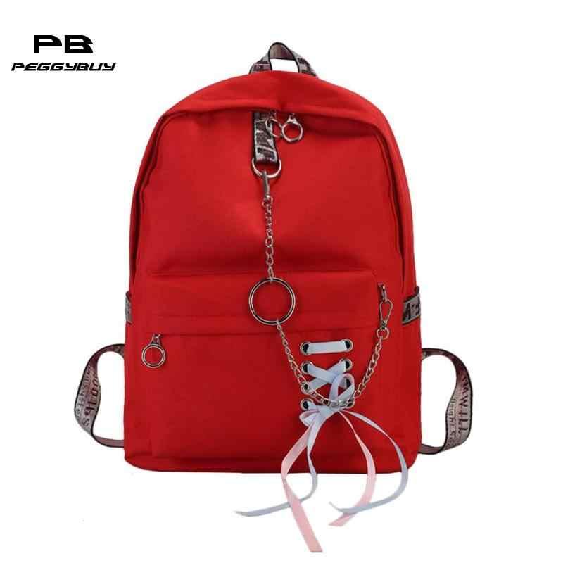 adae6a5623a5 Простой для женщин обувь для девочек холст рюкзаки школы сумки на плечо  подростков Stuedents большой ёмкость