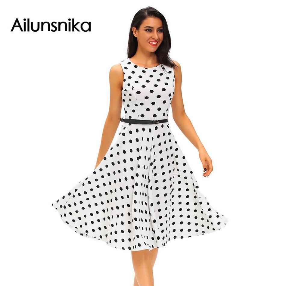 Popular Retro Polka Dot Dress-Buy Cheap Retro Polka Dot Dress lots ...