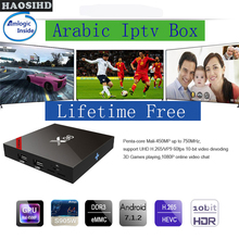 X96 TV box Free forever Smart tv iptv arabic lifetime free 2000+ Arabic Africa America chs good for Australia Sweden live