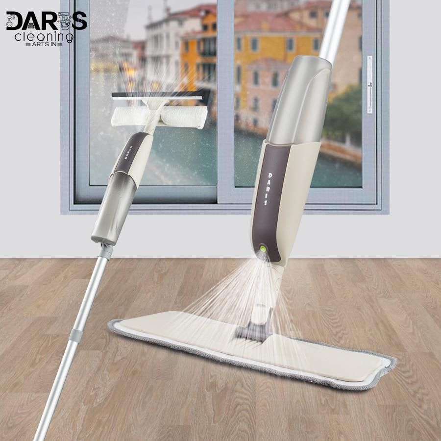 Dropshipping Spray Mopp Holz Boden Reiniger Lange Griff Fenster Reinigung Pinsel Multi-funktionale Haushalts Saubere Werkzeuge 4 stücke Mopp pads