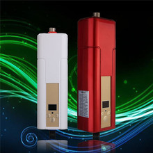 5500W Household Tankless Water Heater Tap  Electric Water Heater Instant Shower For Kitchen Bathroom Two Color Red or White