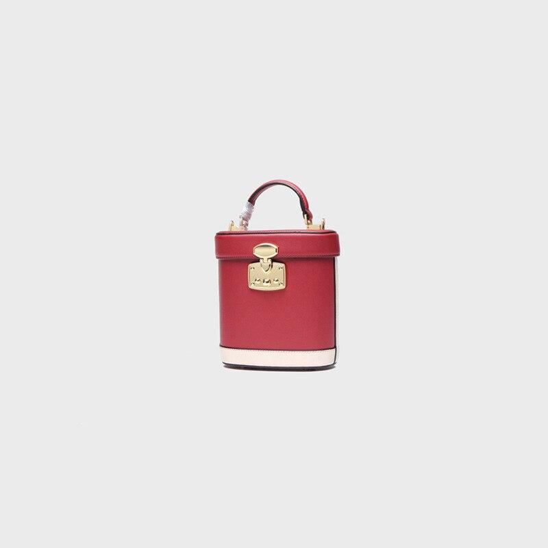 LOEIL fashion leather bucket bag retro stereotypes package ladies handbags shoulder Messenger bag loeil leather ladies bag european and american fashion handbags shoulder messenger bag cowhide handbags bag