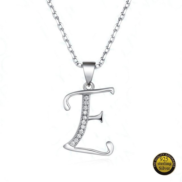 Online shop 925 sterling silver letter pendants for necklace 26 925 sterling silver letter pendants for necklace 26 capital letter crystal pendant necklace alphabet a b c d e f g h i j k l m n aloadofball Gallery