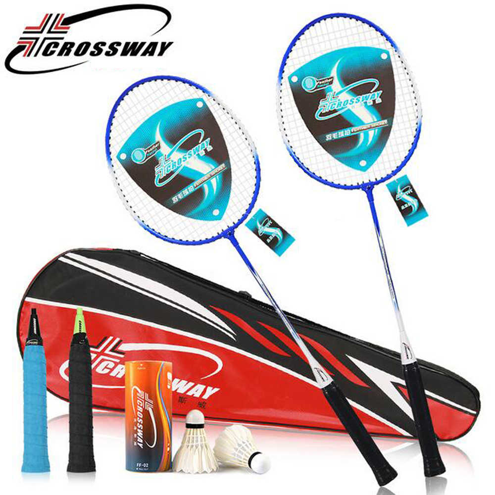 Crossway Badminton Rackets Ferroalloy raquette de badminton with Badminton Shuttlecock & Bag Fitness Equipment with bag