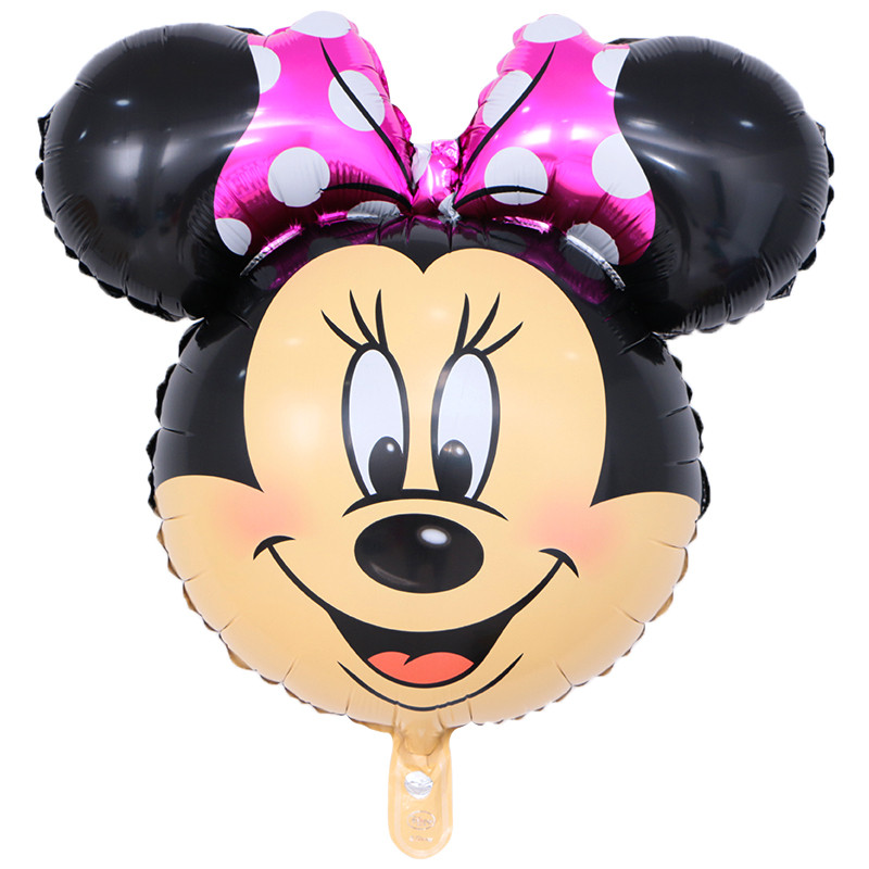 50pcs/lot 70*60CM Mickey Minnie Mouse Head Balloons happy Birthday Mylar Helium Globos Wedding Party Decoration Foil globos toys