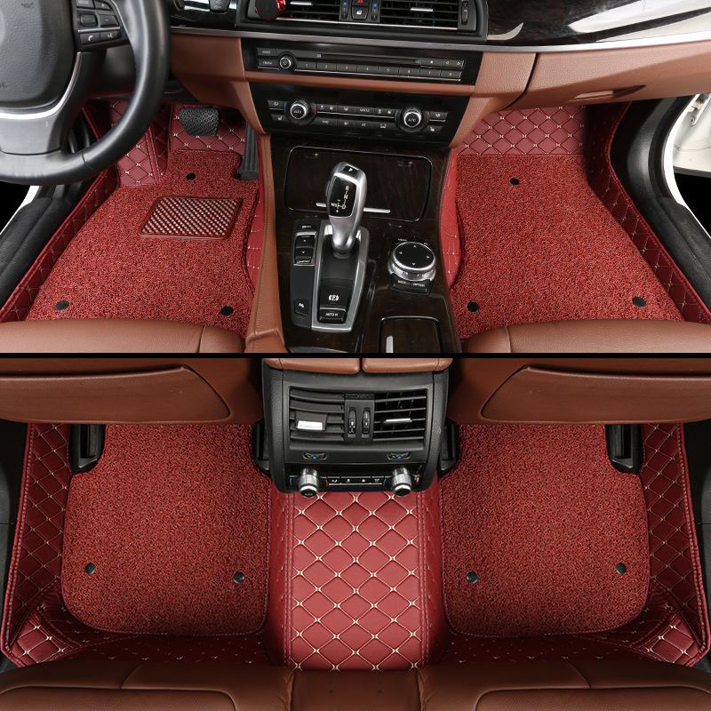 Custom car floor mats for mitsubishi outlander xl pajero sport lancer grandis galant asx floor mats for cars
