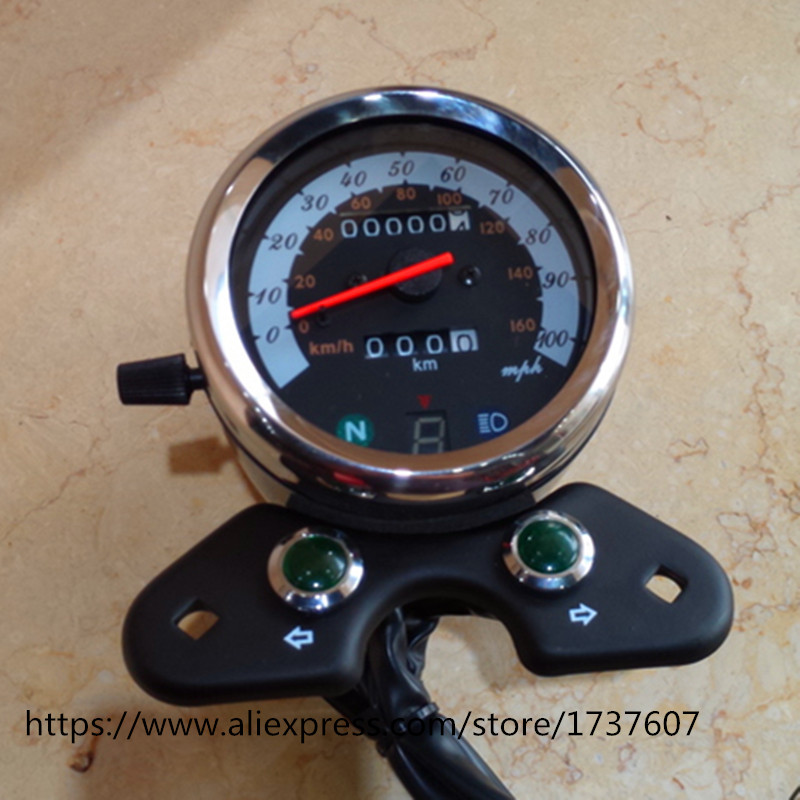 Motorcycle odometer Cafe Racer Vintage Motorcycle GN Modified Instrument Odometer Watch With A Table original authentic japanese physical and chemical liquid crystal display smart table rh400 series fko2 m gn a fko2 v gn a