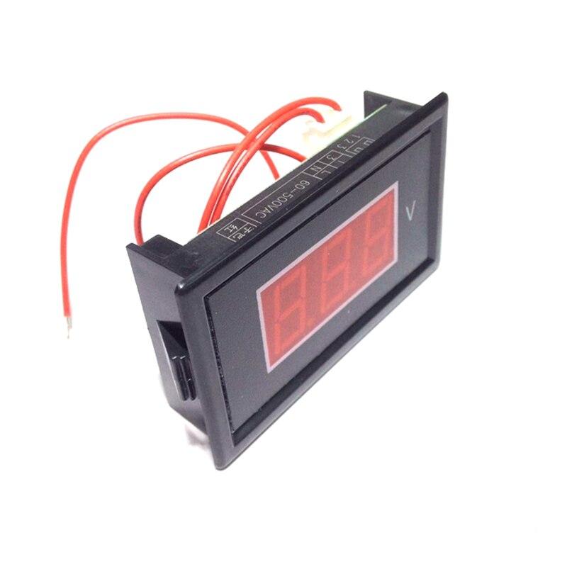 Digital AC Voltmeter 60V-500V Volt Tester Voltage Detector Panel Meter Gauge Red Led Display Free shipping