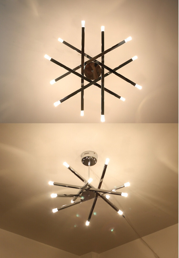 Rod star pendant lights hanging lamps chrome g4 led kitchen rod star pendant lights hanging lamps chrome g4 led kitchen fixture luminaire for home indoor lighting dining room creative lamp in pendant lights from arubaitofo Gallery