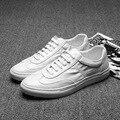 Новое Прибытие 2017 Мода Повседневная Обувь Шнуровкой Платформа Кожаные Ботинки любовника Уличной Обуви Размер 37 ~ 44