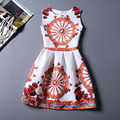 Europa Marca Runway Vestido de Verão Desgaste Sem Mangas D G Impresso Vestido