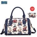Boston Women bag ladies women Messenger bags Colorful jacquard waterproof canvas handbags high quality famous brands tote bag