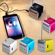 OUTMIX Recommend Portable Mini Support SD TF Card Micro USB Stereo Super Bass Speaker MP3/4 Music Player FM Radio Display IB