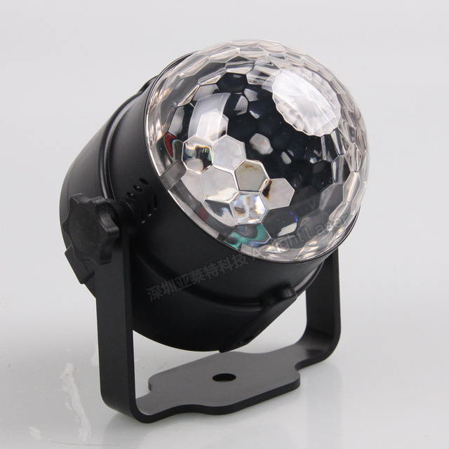 Outdoor Car Entertainment DJ Lights Sound Control LED Crystal Magic Ball USB Car Charging Cool Stage Lights Colorful Disco Ball 1