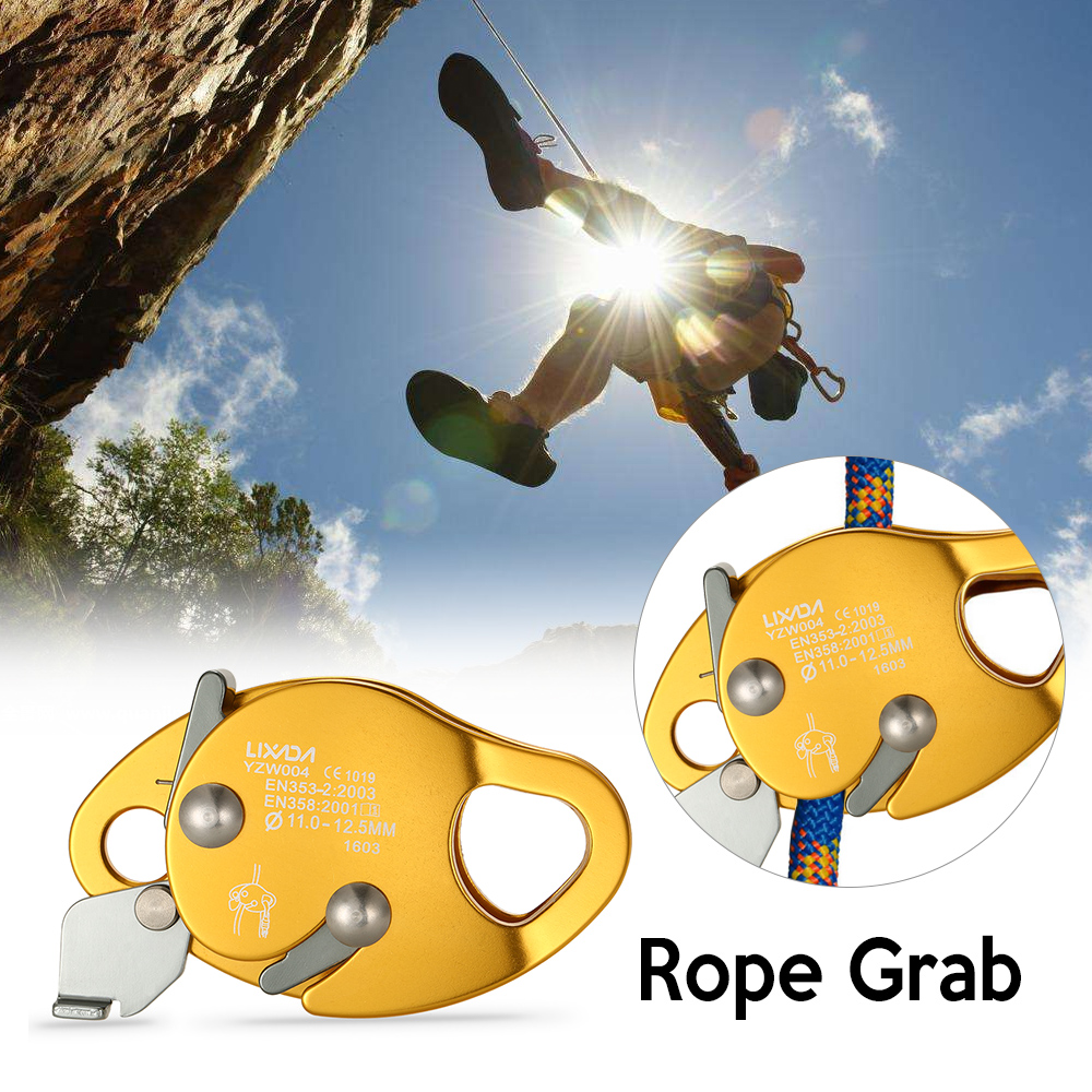 Image 5 - 15KN Rope Grab Lanyard Outdoor Mountain Rock Climbing Outward Bound Training Protection Lanyard Grab-in Climbing Accessories from Sports & Entertainment