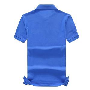 Image 2 - 良質2020新夏ブランドメンズ半袖ポロシャツ綿100% ラペル服ファッション男性スリムトップスs XXL