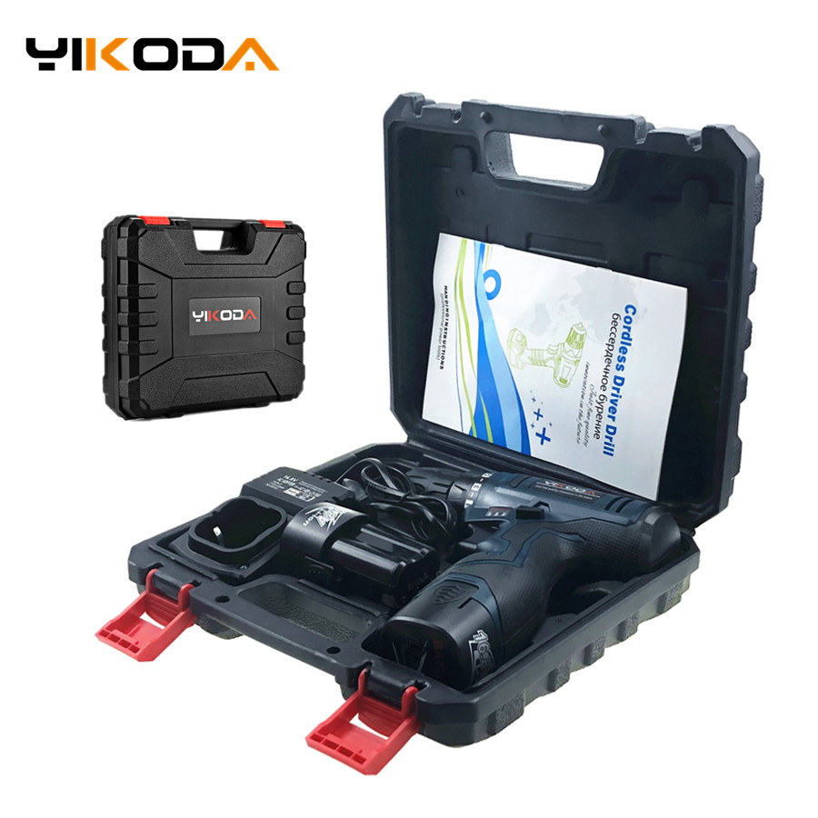 16.8V Cordless Screwdriver Double Speed Lithium Battery*2 Waterproof Electric Screwdriver Professional Case Household Power Tool