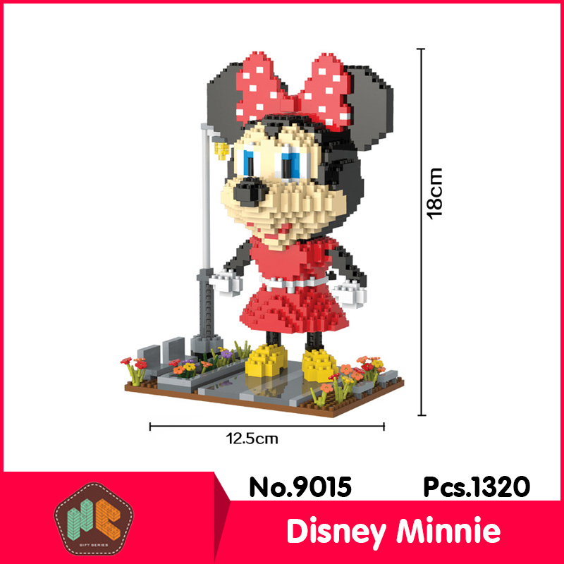 HC9015 1320Pcs Minnie Cartoon Series Without Original Box Building Blocks Diamond Bricks Toys Compatible With LOZ
