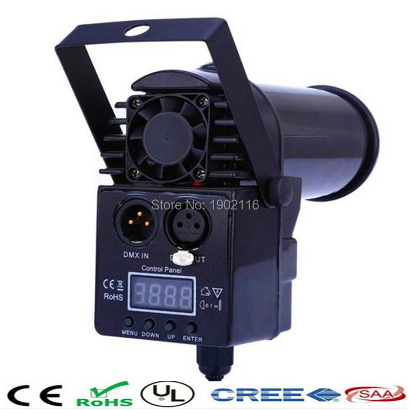 ФОТО Factory price MiNi Laser Projector 10W RGBW 4in1 Led Pinspot Spotlights Disco Spot DMX512 Beam DJ Stage Party Show Lighting
